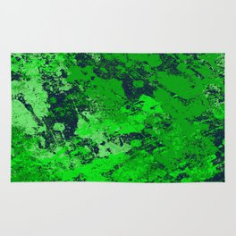 Abstract Earth - Abstract, green and blue textured painting Rug