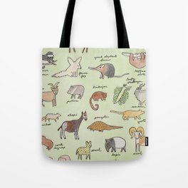 The Obscure Animal Alphabet Tote Bag