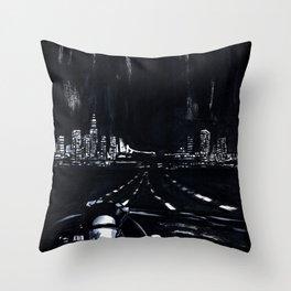 San Francisco Nightdrive Throw Pillow