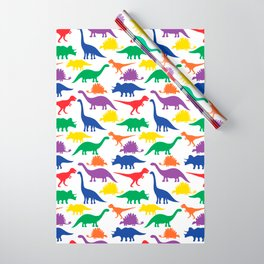Dinosaurs - White Wrapping Paper