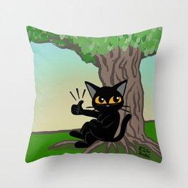 Shade of tree Throw Pillow