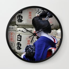 Geisha Maiko Photo Wall Clock