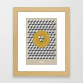 Geometria | Yellow Framed Art Print