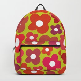 Funky Christmas Flower Power Backpack