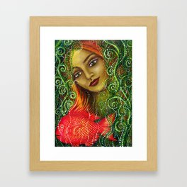 Mermaid and Fish Framed Art Print