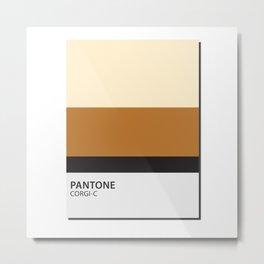 pantone corgi Metal Print