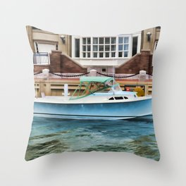 Motorboat Throw Pillow