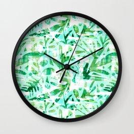 Abstract Jungle Wall Clock
