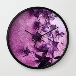 Delphinium Display Wall Clock