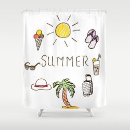 Summer feels Shower Curtain