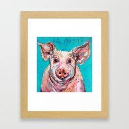 Fly, You Say? Framed Art Print