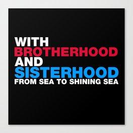 Brotherhood and Sisterhood Immigrants Canvas Print