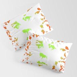 Green Flower Face Pillow Sham