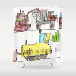 Construction Frenzy Shower Curtain
