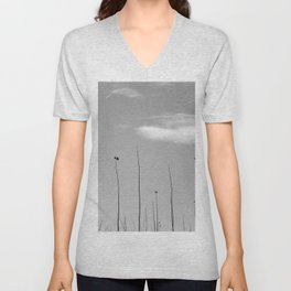 Young Poplars. Looking for the sun... I Unisex V-Neck