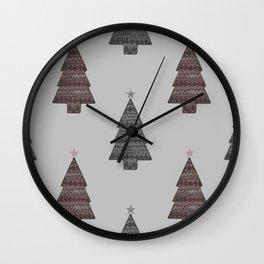 ornamental! red Wall Clock