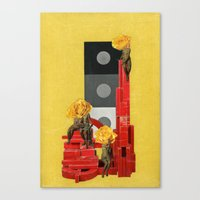 russian Canvas Prints featuring Russian by Karen Constance Collage and Paintings