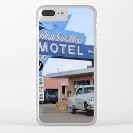 Route 66 - Blue Swallow Motel Clear iPhone Case