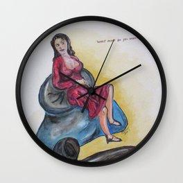 Paper Doll Two Wall Clock