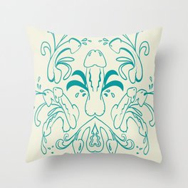 Fleur de Peen Throw Pillow