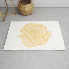 Yellow Rose Illustration Rug