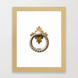Milano   Door Knocker Series Framed Art Print