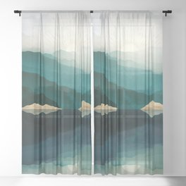 Waters Edge Reflection Sheer Curtain