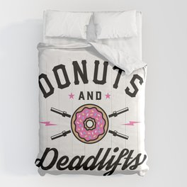 Donuts And Deadlifts v2 Comforters