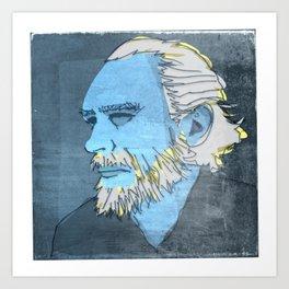 CHARLES BUKOWSKI, AMERICAN WRITER AND BARFLY Art Print