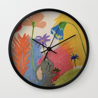 mouse Wall Clocks featuring Mouse by SketchMaster
