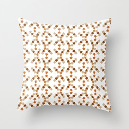 Star pattern in soft browns Throw Pillow