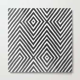 diamond stripe Metal Print