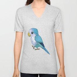 very cute blue quaker parrot Unisex V-Neck