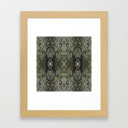 SnowFlowers Framed Art Print