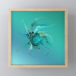 Turquoise on Turquoise by Mia Niemi Framed Mini Art Print