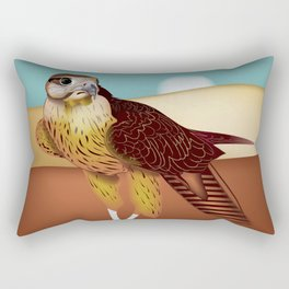 Hawk Illustration Rectangular Pillow