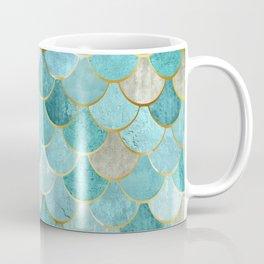 Moroccan Mermaid Fish Scale Pattern, Aqua,Teal Coffee Mug
