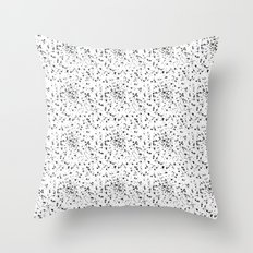 Speckled black and white Throw Pillow