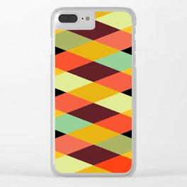 Geometric Pattern #28 (crisscross) Clear iPhone Case