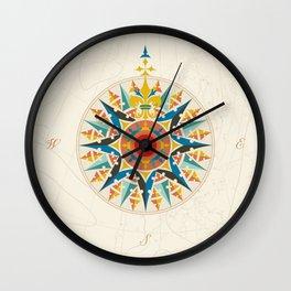 Rose Compass  Wall Clock