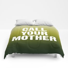 Call Your Mother - Green Ombre Comforters