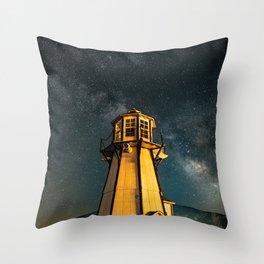 Mountain Light House Two Throw Pillow
