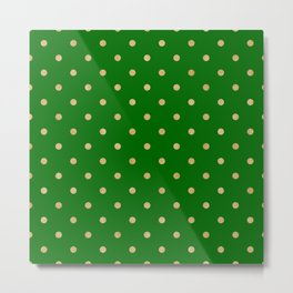 gold dot on green Metal Print