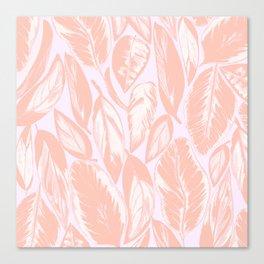 Calathea pale Canvas Print
