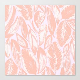 Calathea pale Canvas Print