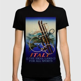 ENIT Italy ideal land for sport Vintage Travel Poster T-shirt