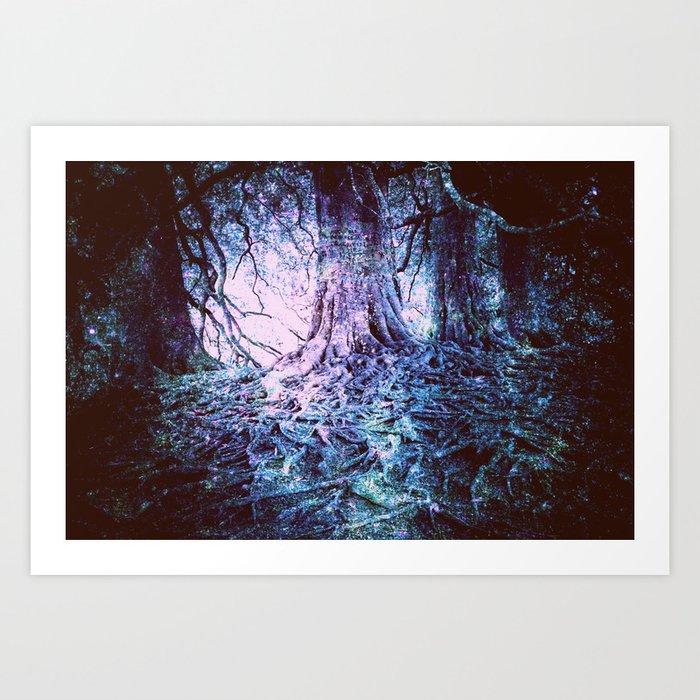 The Wishing Tree : Aqua Lavender Art Print