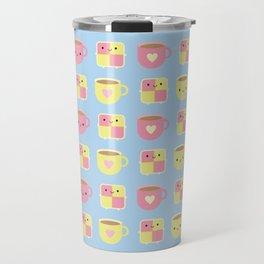 Kawaii Battenberg Cake & Cup of Tea Travel Mug