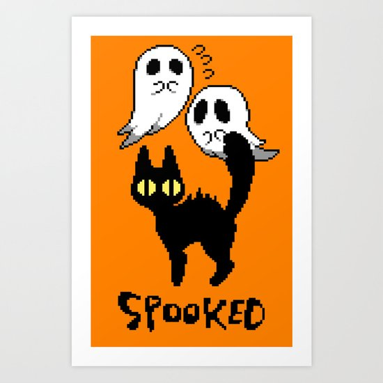 spooked Art Print