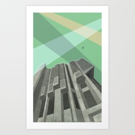 Robarts Library (University of Toronto) Art Print